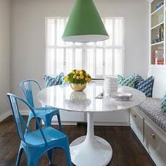 Bookcase Over Dining Banquette, Contemporary, Dining Room