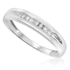 White Gold Wedding Bands With Diamonds