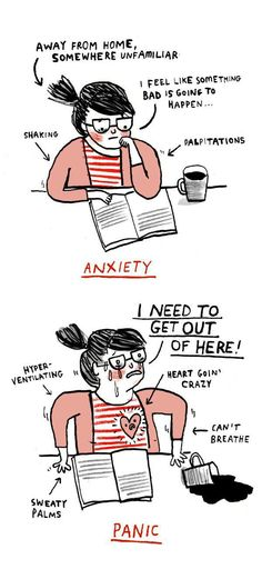 The Difference Between Anxiety Attacks And Panic Attacks    #howtohelp #anxiety #panicdisorder www.journeytoanxietyfree.com