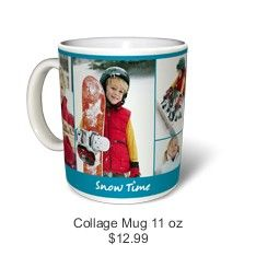 Put your photos on a collage mug from Snapfish