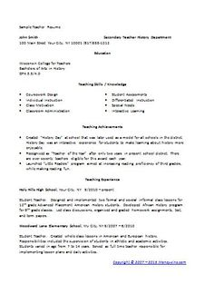 Sample Emergency Room Nurse Resume Template  Nurse Resume