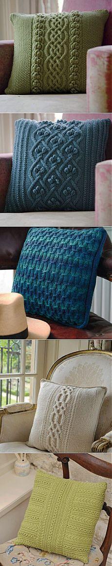 Вязаные подушки | Knitta.ru — уроки и советы по вязанию