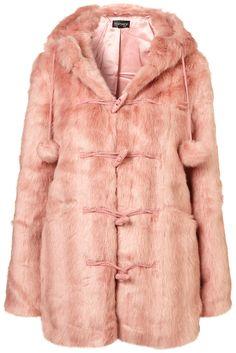 pink fur coat, TOPSHOP