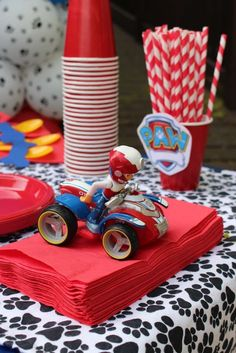 Paw Patrol birthday party! See more party planning ideas at CatchMyParty.com!