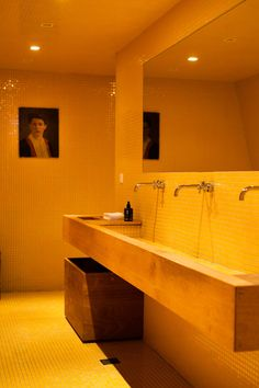 Ammos Hotel In Crete, Greece #bathroom #yellow #old  - for more inspiration visit http://pinterest.com/franpestel/boards/