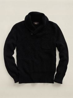 Shawl-Collar Pocket Pullover - RRL Sweaters - Ralph Lauren UK   To replace the similar one that's too big