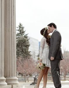 If the stress of wedding planning is enough to make your head explode, you and your beloved might just be the ideal candidates for a short, sweet and itty-bitty city hall wedding