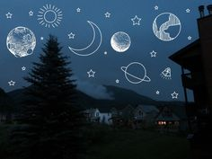 Here in the city we are forced to use our imagination when we look up into the night sky!
