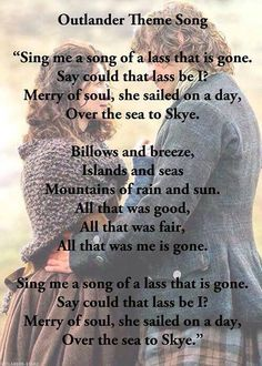 Outlander Quotes, Outlander Series, James Fraser Outlander, Scottish Music, Sweet Nothings, Book Fandoms, Period Dramas, Theme Song, Best Shows Ever