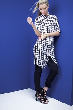 Key look: the longer length tunic. Ss15 Trends, Ss 15, Spring Summer 2015, Tunic, Key, Shirts, Vintage, Style, Fashion