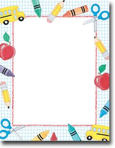 School theme paper from great papers. text x 11 paper with school theme. Borders For Paper, Borders And Frames, Simple Borders, School Border, Printable Border, Boarder Designs, Border Templates, Design Templates, Kids Background