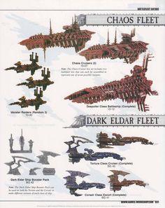 Chaos & Dark Eldar Fleet - Battlefleet Gothic