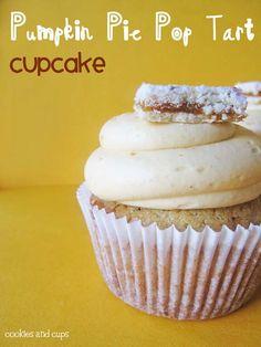 pumpkin pie pop tart cupcake