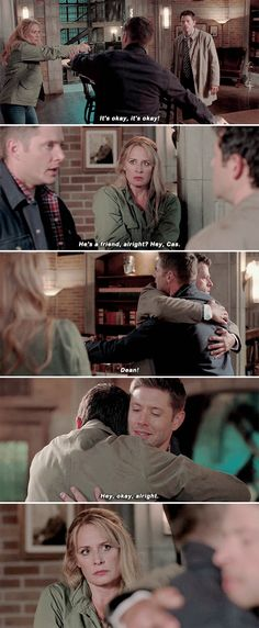 Dean was super worried about the gin pointed toward Cas even though he knows a gun can't hurt him