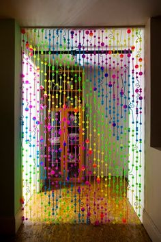 cortina de tapitas plasticas