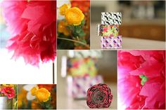 Some of our favorite, flowery, crafts!  #Crafts #Flowers #DIY #Wedding #Kids #Fun