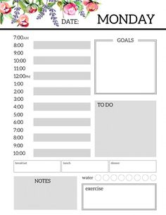 Daily Work Planner Template New Daily Planner Printable Template Sheets Paper Trail Design Daily Work Planner, To Do Planner, Daily Planner Pages, Study Planner, Bill Planner, Hourly Planner, Printable Day Planner, Monthly Planner Template, Daily Schedule Template