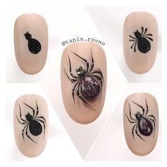 Nail Art 3d, Acrylic Nail Art, Cool Nail Art, Animal Nail Designs, Gel Nail Designs, Halloween Nail Designs, Halloween Nail Art, Happy Nails, Nail Studio