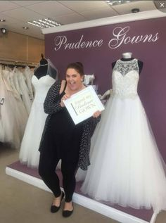 Our new Harriet found her in our store today. Prudence Gowns, Exeter, Plymouth, Brides, Store, Wedding Dresses, Fashion, Bride Dresses, Moda