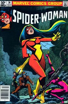 """Spider-Woman vol. #36, """"The Wanderer!"""" (March, 1981). Cover by Steve Leialoha."""