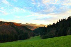 Blick zum Brandenkopf auf dem Weg nach Oberharmersbach im Schwarzwald