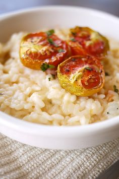 Roasted garlic and tomato risotto - would combine well with loads of other stuff.