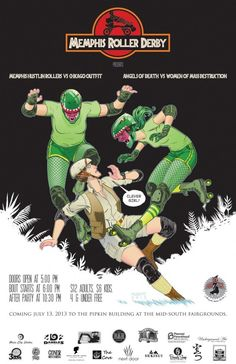 Memphis Roller Derby poster! I used to live in Memphis and was a regular at their bouts. :)