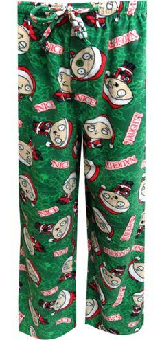 WebUndies.com Family Guy Stewie Griffin Naughty Or Nice Fleece Lounge Pants