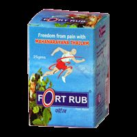 Fort Herbal Drugs Fort Rub Pain Balm - The balm to be applied on the affected area two to three times.  * Pain and pyrexia. * Frozen shoulder. * Muscular spasm. * Ankylosing spondylitis. * Back ache. * Safe and effective for prolonged use.