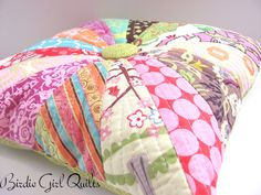 Birdie Girl Quilts: Quilted Pinwheel Pillow