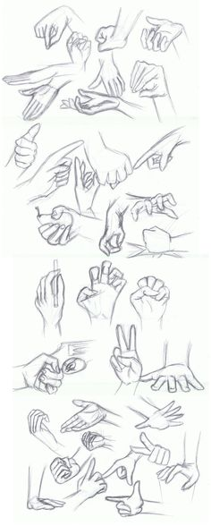 Week of Hands by TheBlack-Kat.deviantart.com on @DeviantArt