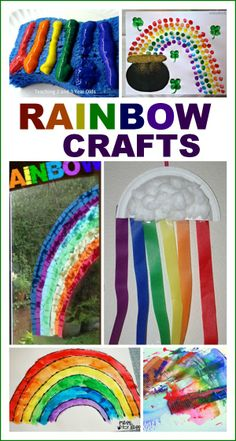 Rainbow Crafts for Kids- fun ideas!  I love the fingerprint rainbow