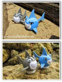 craft, crafts, crafing, shark, sharks, shark craft, shark week, sharkweek, craft ideas, idea, ideas, golf ball, recycling, diy, recycling craft, recycle