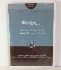 Creative Memories Storybook Disney Mickey Mouse Friends Digital Content 12x12  | eBay