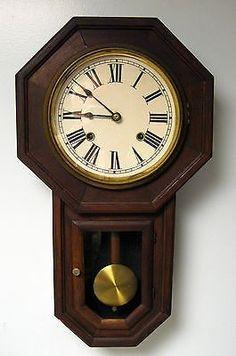 Antique Seikosha Seiko Wall Regulator Clock Time And