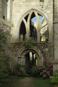 Ruins, Beauport Abbey, Brittany, France photo via medieval Gothic Architecture, Beautiful Architecture, Beautiful Buildings, Abandoned Churches, Abandoned Places, Beautiful Ruins, Beautiful Places, Brittany France, Castle Ruins