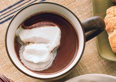 Chai-Spiced Hot Chocolate - Bon Appétit use soy milk no whipped cream but, breville steamed milk