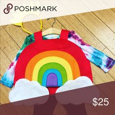 Rainbow costume- pottery Barn kids Excellent condition rainbow costume, tie dye shirt and leggings sold separate pottery barn kids Costumes