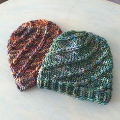 Mega Spun hat pattern by Kali Berg | malabrigo Rasta in Indiecita or Piedras