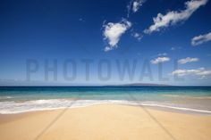 Blue Noon at the Beach - Wall Mural & Photo Wallpaper - Photowall
