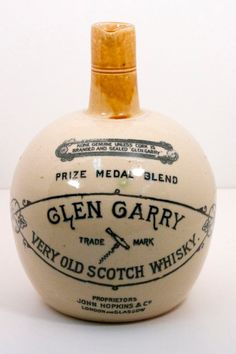Glen Garry Scotch Whisky Jug Port Dundas Pottery by WarrenExchange, $80.00