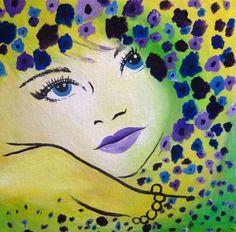12x12 acrylic painting on canvas board by artbycheyne on Etsy, $50.00