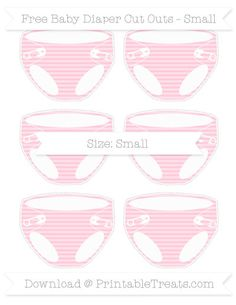 Pink Horizontal Striped  Small Baby Diaper Cut Outs