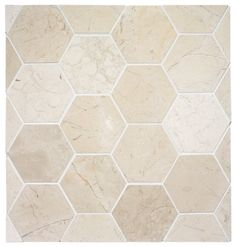 like for the floor in shower Hexagon Stone Tile eclectic bathroom tile