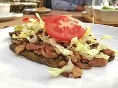 Huarache de nopal con bistec