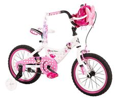 b31c5b6b468 Girls in 14 inch Huffy Minnie Mouse Bike from Best Beginner Bikes for 3, 4  and 5 Year Old Kids