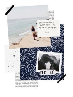 love this collage-y feel but I like that it's still a little simple and not overdone