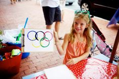 olympic rings painting project for kids!