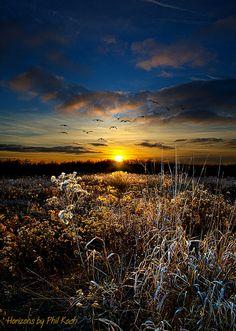 Sunset, Wisconsin, USA.