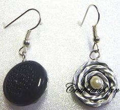 Tutorial earrings with nespresso capsules and old earphones